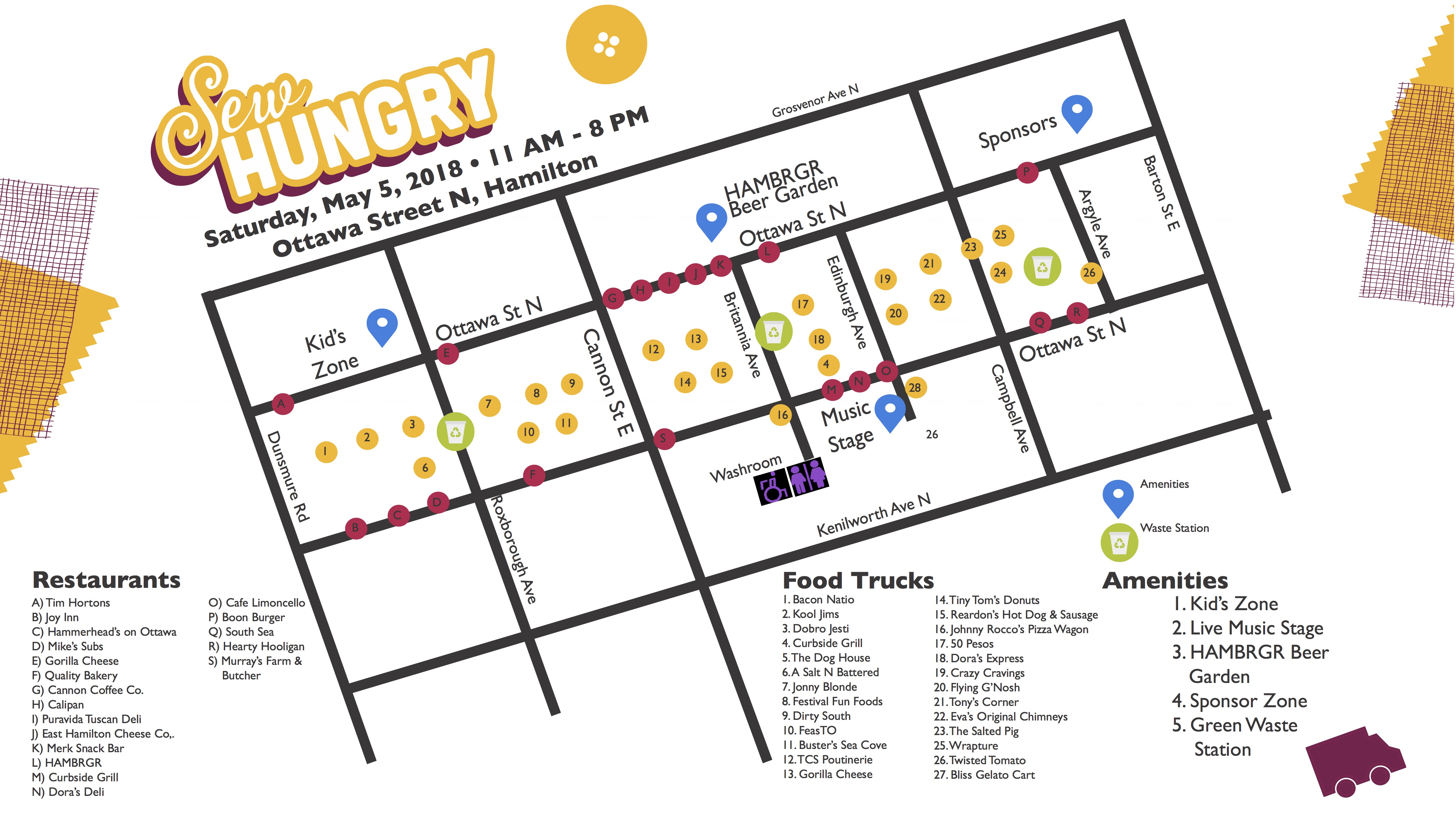 Sew Hungry Event Map
